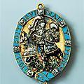 Insigne de l'ordre de la jarretière: saint george terrassant le dragon, dresde, après 1669