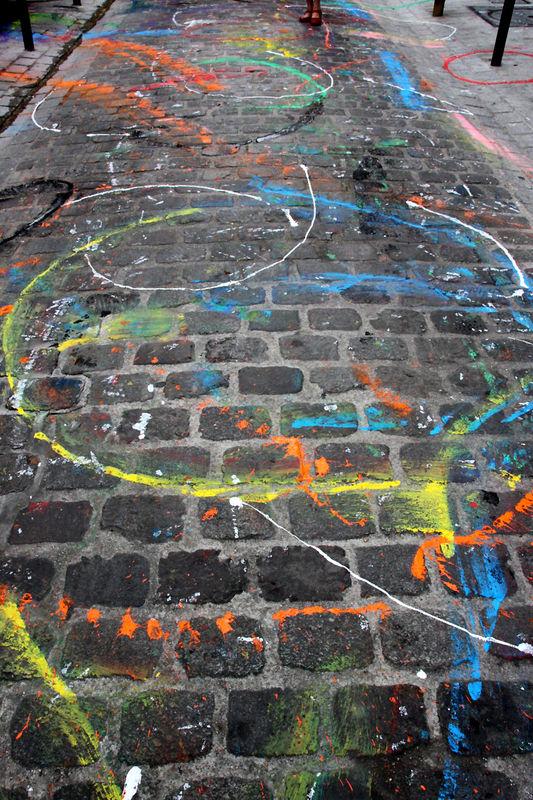 Rue Dénoyez pavée, colorée_6963