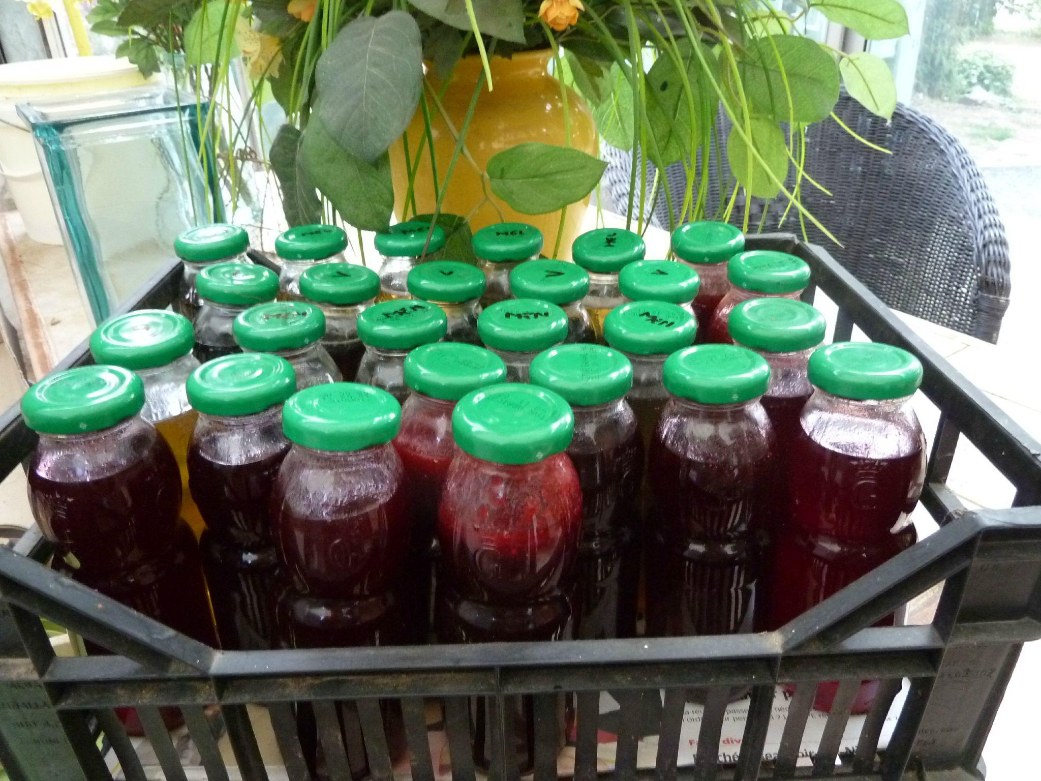 conserves de sirop de framboises - www.passionpotager.canalblog.com