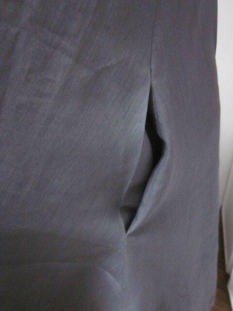 Robe EUPHRASIE en lin gris (4)