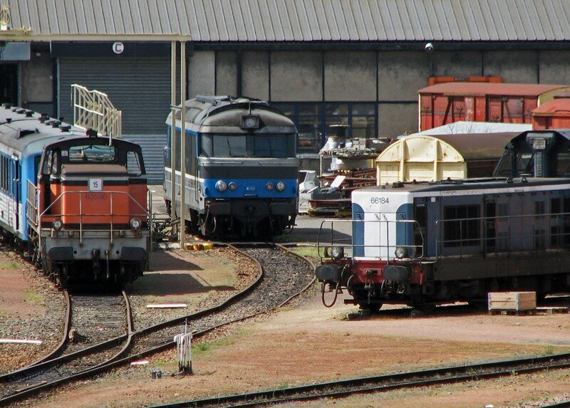Locomotives thermiques à St Pierre des corps.