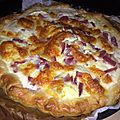 Quiche chevre jambon mozzarella