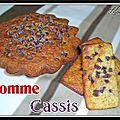 Gâteau au yaourt, pommes et cassis...