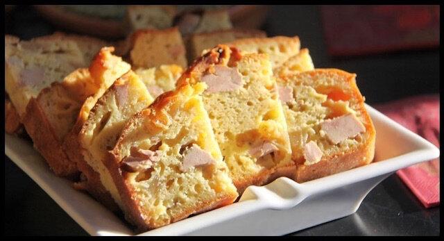 le cake foie gras magret fumé