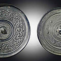 Two bronze circular mirrors, Warring States period-Western Han dynasty (475 BC-AD 8)