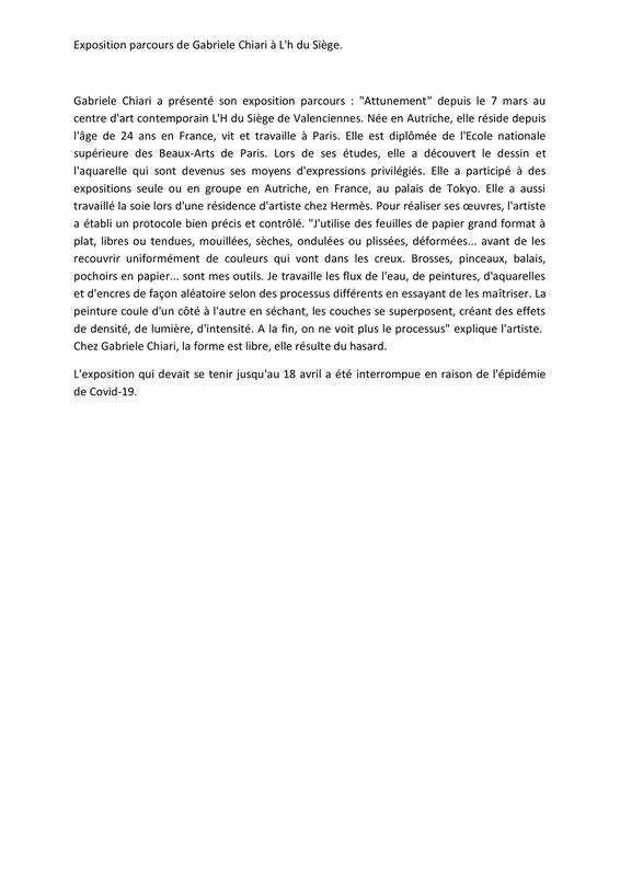 Gabriele Chiari a présenté son exposition-1