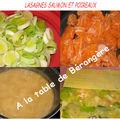 Lasagnes saumon et poireaux de christophe felder