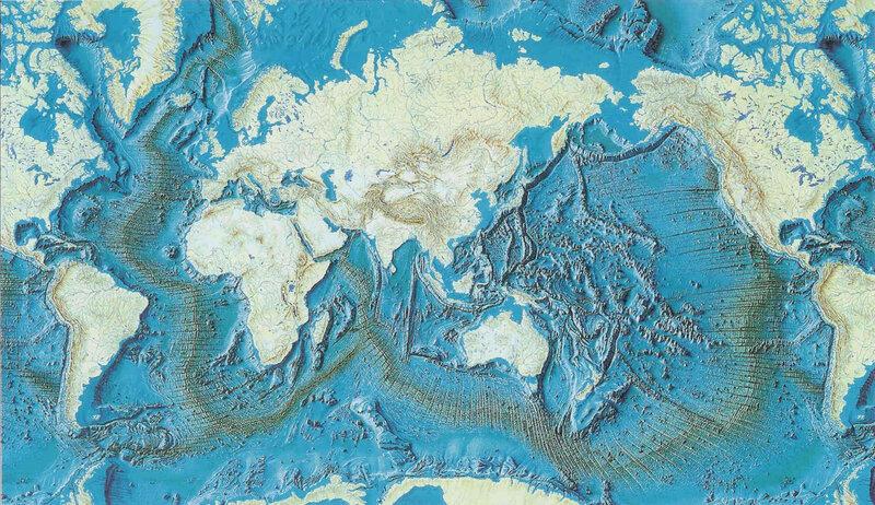 photo carte des fonds océaniques