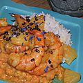 Crevettes sautées au poivre timut et ananas victoria: un aller simple pour les mascareignes!