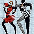 Broderie machine : danse13 et danse14