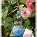 Collier bulle magique turquoise