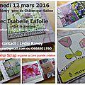 Journée créative à saint-rémy (71) le 12 mars prochain