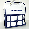 Vintage ... sac de voyage air france * blanc
