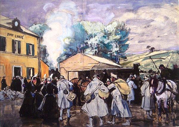 05 15 Permissionnaires Pont-Labbé 1918 huile-sur-toile-Fondation-Astor-Institut-de-France-Manoir-de-Kérazan-Loctudy