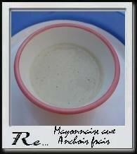 Mayonnaise aux anchois frais