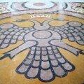 Aigle symbol des 2 Eglises dans l'église de Patra