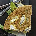 Omelette au quinoa et au chèvre