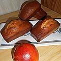 Cakes à l'orange sanguine et lait concentré sucré