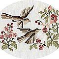 Des oiseaux et des fleurs ...