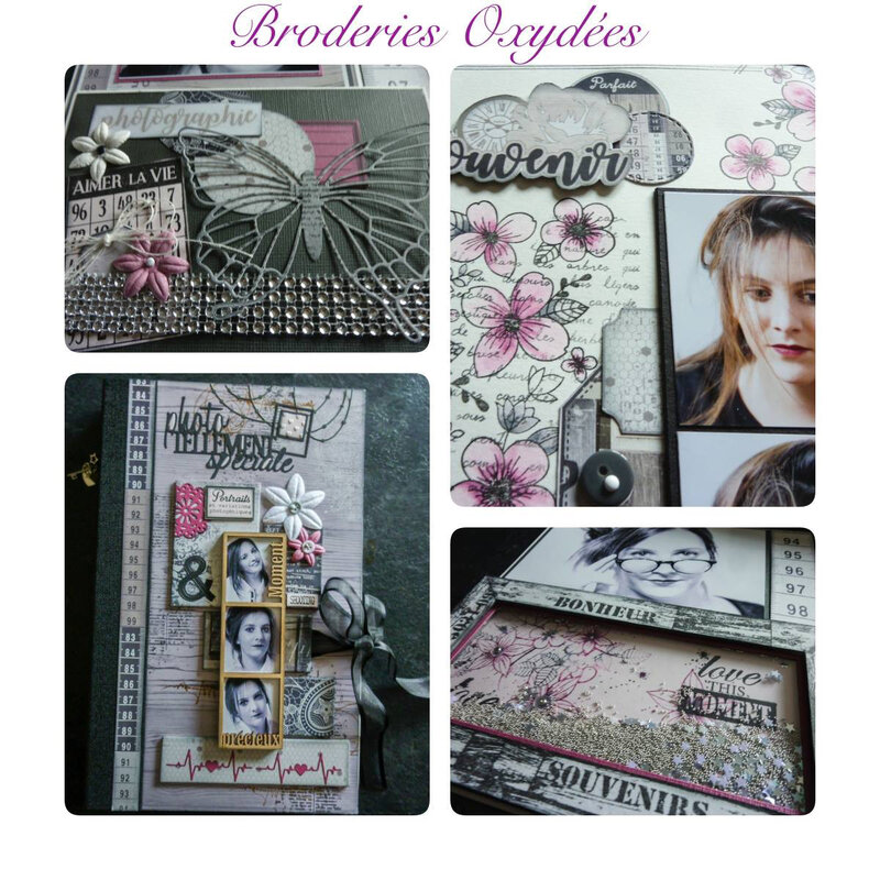 Photo album broderie oxydée