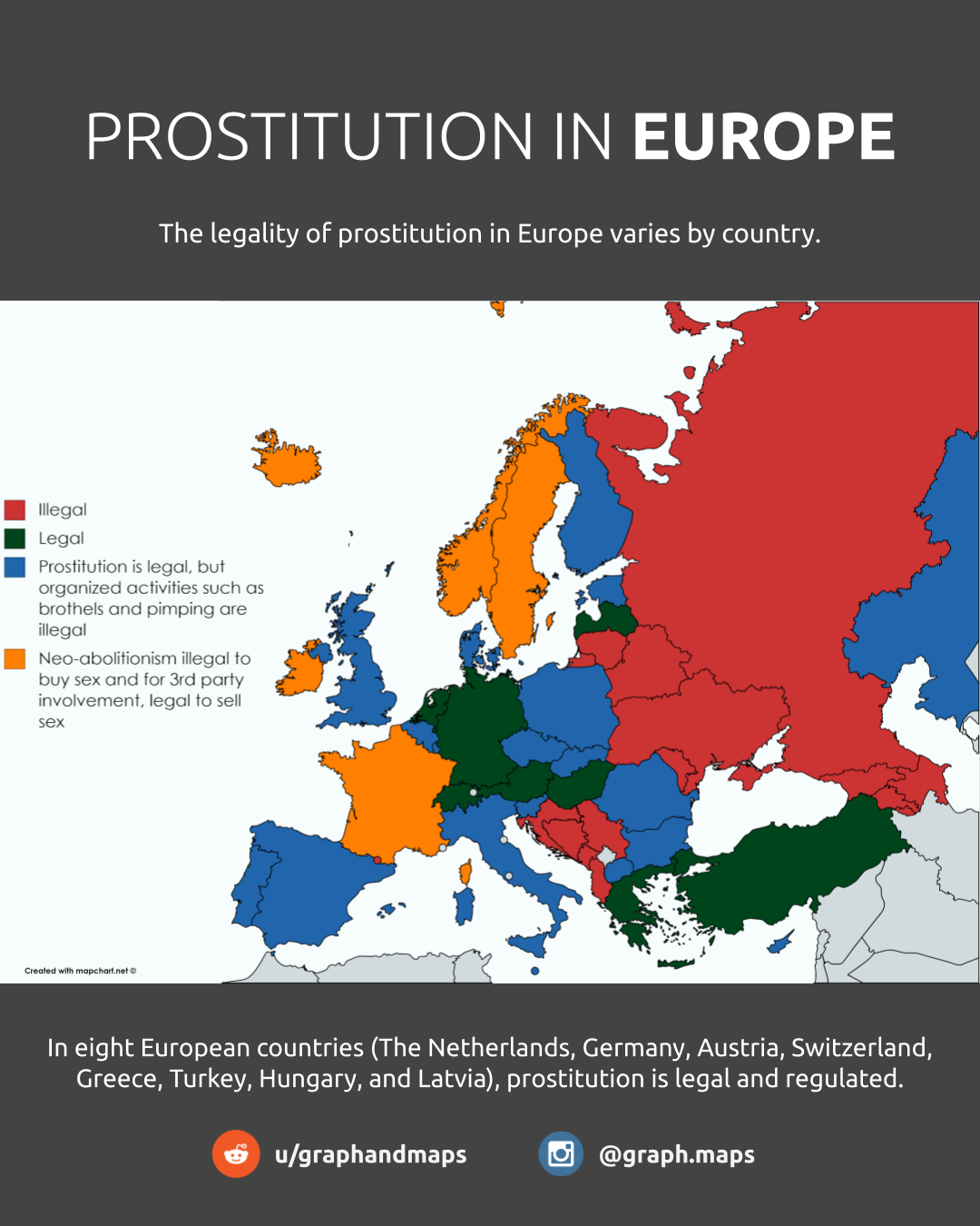 Prostitution laws across Europe