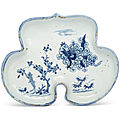 A very rare blue and white ko-sometsuke ruyi-form tray, tianqi period (1621-1627)