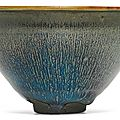 An exquisite and rare 'Jian' 'hare's fur' 'tenmoku' bowl, Southern Song dynasty