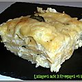 Lasagnes aux 3 fromages et basilic