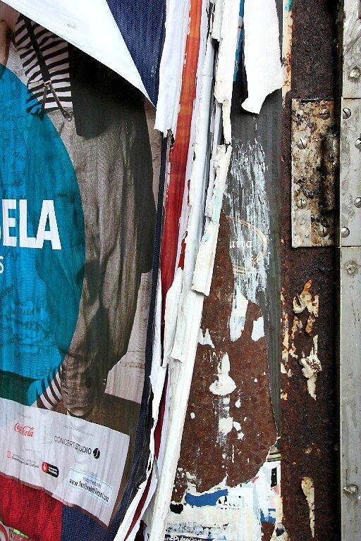Barcelone, affiches déchirées_6819