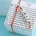 Des paquets cadeaux diy à message (pour les timides)