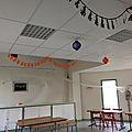 La salle communale décorée