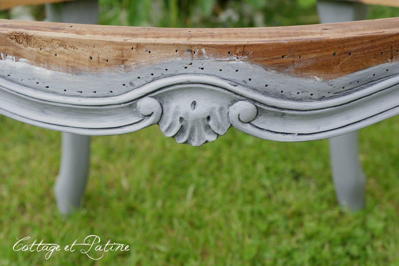 Cottage et Patine fauteuil louis 15 relooké grisé (3)