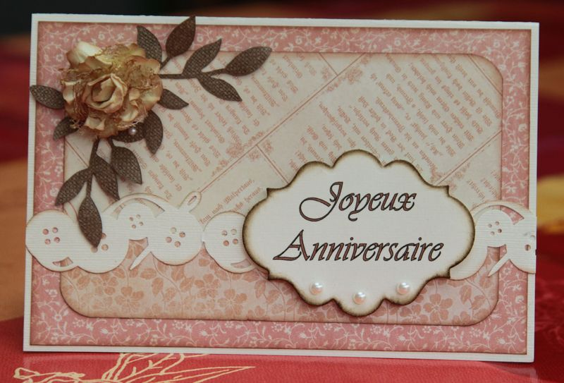 Carte d'anniversaire - scrapaly