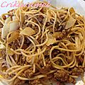 Spaghettis aux courgettes et boeuf haché
