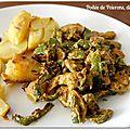 Poêlée de poivrons, dinde au curry