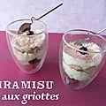 Tiramisu aux cerises griottes et vanille