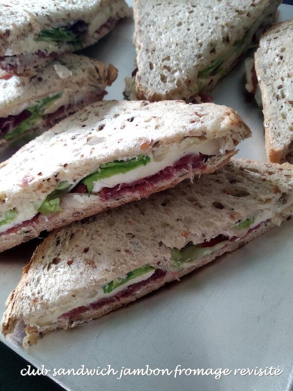 club sandwich jambon fromage revisité1
