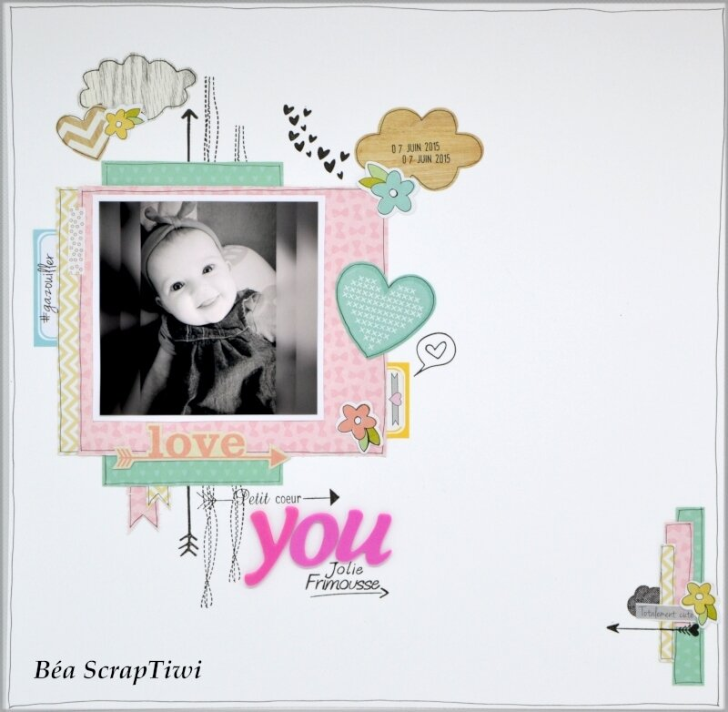 Page Love you jolie frimousse 1 - Janvier 2019