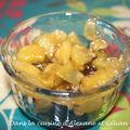 Pommes caramélisées sur chocolat arrangé...