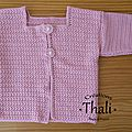 Gilet point étoile au crochet