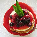 Panna cota aux fruits rouges