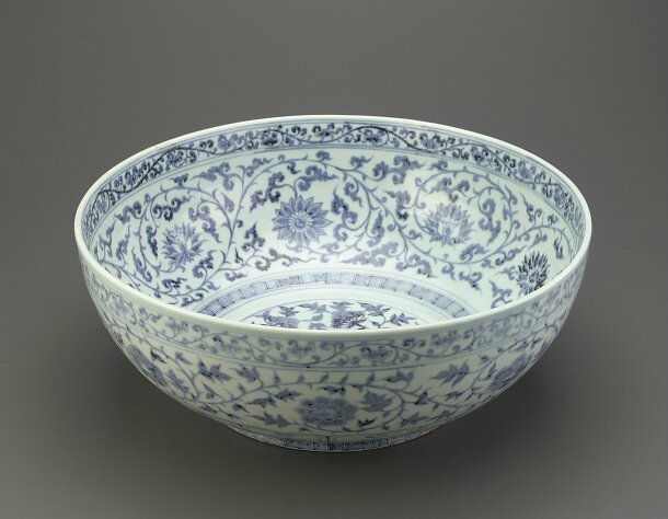 Bowl with peony and lotus, Hongwu period (1368-1398), Ming dynasty (1368 – 1644)