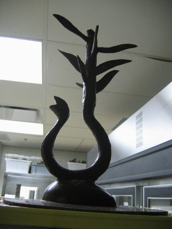 Serpent avec feuilles