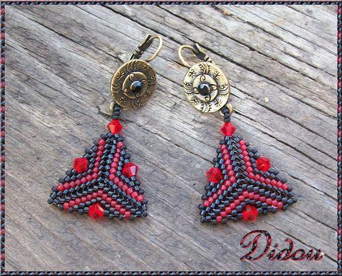 BO triangles rouge et noir