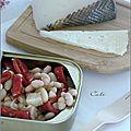 Salade de haricots blancs, piquillos & manchego