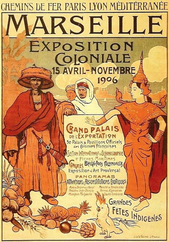 Expo coloniale, Marseille, 1916, affiche René Lataste