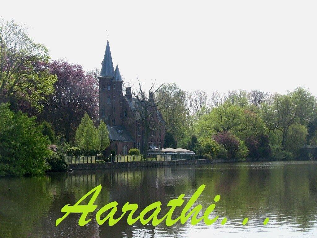 Castle de la Faille at banks of Minnewater, Bruges.