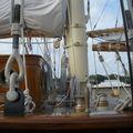 Pied de mât de la goélette Atlantic-Reproduction du bateau mythique de Wilson Marchall