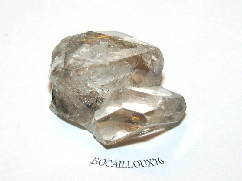QUARTZ Diamant d'Herkimer 7 Naturel Fumé - LITHOTHERAPIE