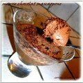 Mousse chocolat au mascarpone